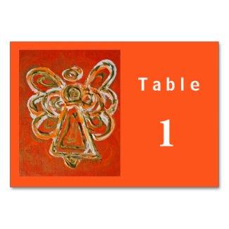 Orange Color Series Angel Custom Table Card