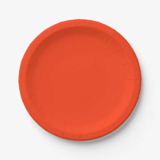 Orange Color 7 Inch Paper Plate
