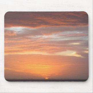 Orange Colored Sky Mouse Pad