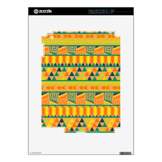 Orange Colorful Abstract Aztec Tribal Print Pattrn Skin For iPad 2