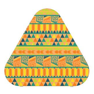 Orange Colorful Abstract Aztec Tribal Print Pattrn Speaker