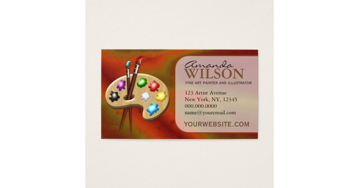 Art Supplies Business Cards & Templates | Zazzle