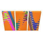 Orange colorful wave stretched canvas prints