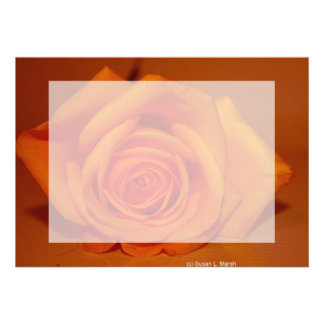 Orange colorized rose against orange background personalized announcement