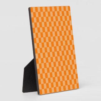 Orange Combination Checkerboard by Shirley Taylor Plaque