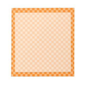 Orange Combination Classic Checkerboard Notepad