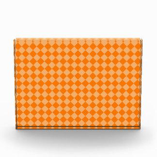 Orange Combination Diamond Pattern Acrylic Award