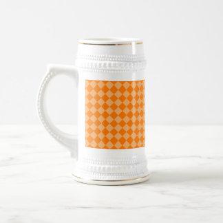 Orange Combination Diamond Pattern by STaylor Beer Stein