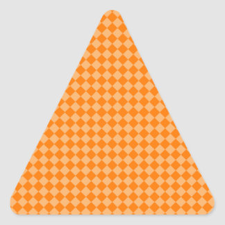 Orange Combination Diamond Pattern by STaylor Triangle Sticker
