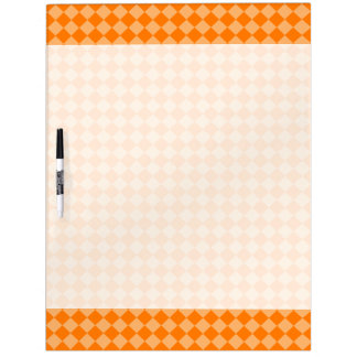 Orange Combination Diamond Pattern Dry-Erase Board
