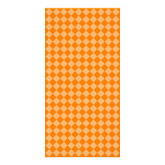 Orange Combination Diamond Pattern Photo Card