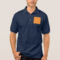 Orange Combination Diamond Pattern Polo Shirt
