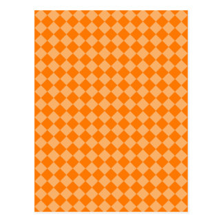 Orange Combination Diamond Pattern Postcard