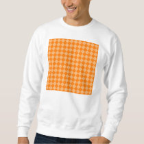 Orange Combination Diamond Pattern Sweatshirt