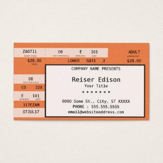 orange concert ticket
