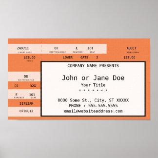 orange concert ticket poster