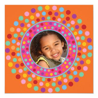 Orange Confetti Party Invitation