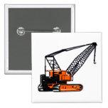 Orange Construction Crane Button