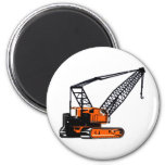 Orange Construction Crane Magnet