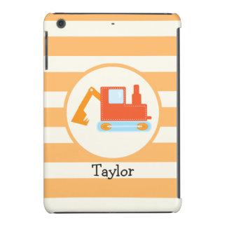 Orange Construction Toy Backhoe iPad Mini Covers