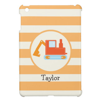 Orange Construction Toy Backhoe Case For The iPad Mini