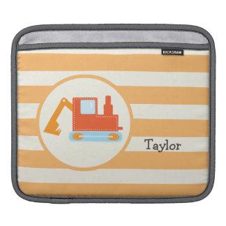 Orange Construction Toy Backhoe iPad Sleeve