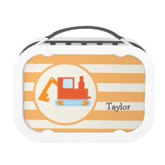 Orange Construction Toy Backhoe Yubo Lunch Box