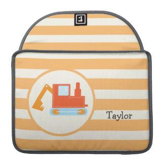 Orange Construction Toy Backhoe MacBook Pro Sleeves