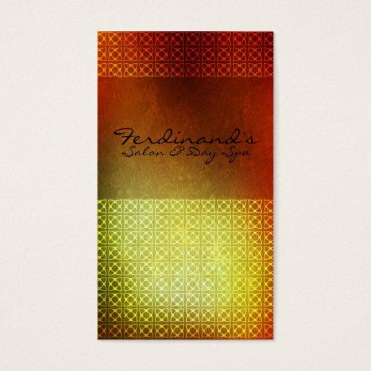 Orange Contemporary Salon & Sp Business Card