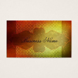 Orange Contemporary Salon & Spa Business Card