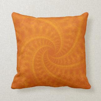 Orange Contrail Spiral American MoJo Pillows