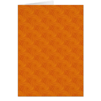 Orange Contrail Spiral Card