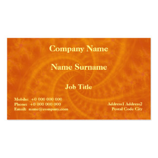 Orange Contrail Spiral Card Double-Sided Standard Business Cards (Pack Of 100)