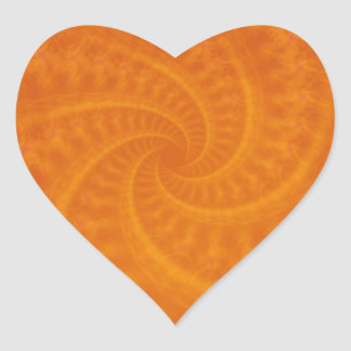 Orange Contrail Spiral Heart Sticker