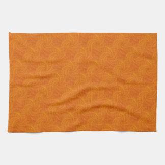 Orange Contrail Spiral Kitchen Towels