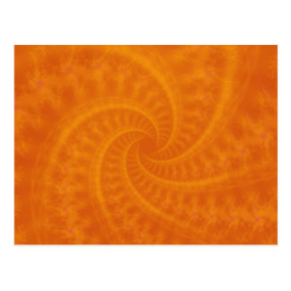 Orange Contrail Spiral Postcard