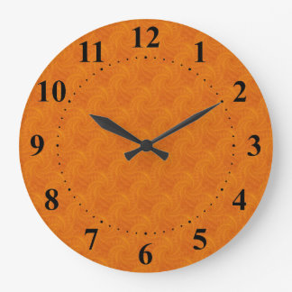 Orange Contrail Spiral Wall Clock