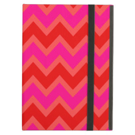 Orange | Coral | Hot Pink Chevron Zigzag Pattern iPad Folio Case