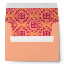 Orange Coral & Magenta Arabesque Moroccan Graphic Envelope