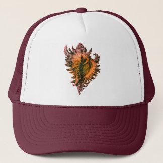 Orange Coral Sea Shell Trucker Hat