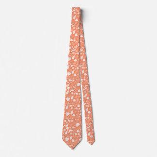 Orange Coral Starfish Seashell and Ocean Sealife Neck Tie