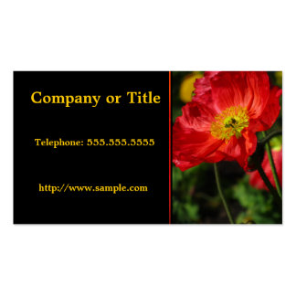 Orange Corn Poppy Double-Sided Standard Business Cards (Pack Of 100)