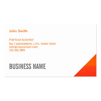Orange Corner Political Scientist Business Card