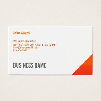 Orange Corner Program Director Business Card