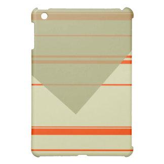 Orange, Cornsilk Retro Striped ipad case