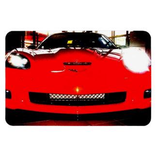 Orange Corvette Magnets