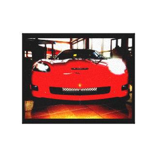 Orange Corvette Stretched Canvas Prints