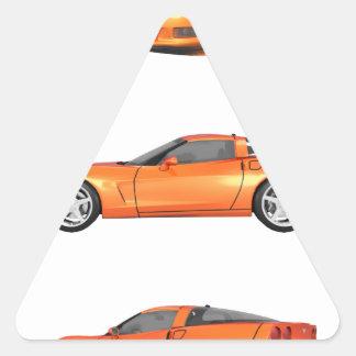 Orange Corvette: Triangle Sticker