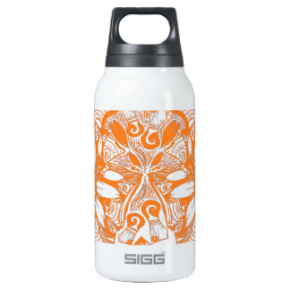 Orange Cosmic Flower Explosion Insulated Water Bottle