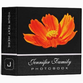 Orange Cosmos Flower Family Photo Books 3 Ring Binder